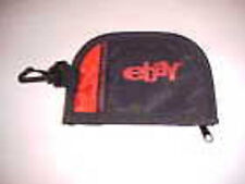 eBay Change Coin Purse Black Red Canvas Fabric Material Zippered Coin Area