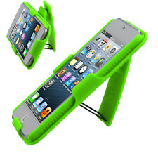 iPod Touch 5 5th Gen COMBO Belt Clip Holster Case Cover Kick Stand Neon Green