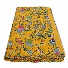 Indian Kantha Quilt Bird of Paradise Kantha Blanket Kantha Bohemian Bedding