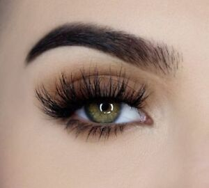 3D Mink False Eyelashes, Layered Wispy Lashes-Long Party Fluffy (Lilly/Miami)*