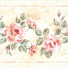 20 Paper Napkins pale ROSES GRACE Decoration DECOUPAGE SHABBY CHIC - Lunch