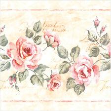 20 Paper Napkins pale ROSES GRACE Decoration DECOUPAGE SHABBY CHIC - Lunch