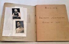 * Rare * Scrapbook Carpentier v Beckett Fight 1923 + Postcards of Fight