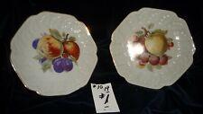 #1019 vtg Decorative Hanging Plates Lot 2 Fruit 8'' R No Maker