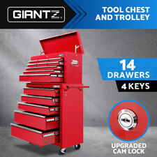 Giantz 14 Drawers Tool Box Chest Trolley Toolbox Cabinet Boxes Storage Boxes Red