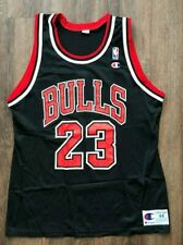 VTG MICHAEL JORDAN JERSEY #23 Chicago Bulls Black Champion NBA 44