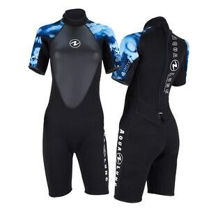 AquaLung Hydroflex Damen Shorty schwarz-blau