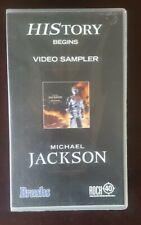 MICHAEL JACKSON  ~ HISTORY ~ VIDEO SAMPLER - VHS VIDEO