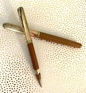Parker Unrestored 51 Vacumatic Fountain Pen & Mech. Pencil Engraved/14K