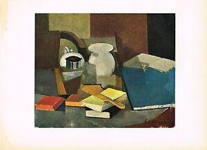 1940s Original Vintage Roger De La Fresnaye Nature Morte Offset Litho Art Print