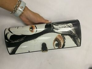 Jimmy Choo hard lady clutch face authentic