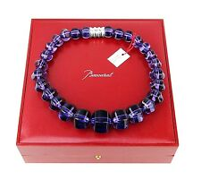 BACCARAT JEWELRY SHERAZADE LARGE PARMA VIOLET NECKLACE ST. SILVER NEW FRANCE