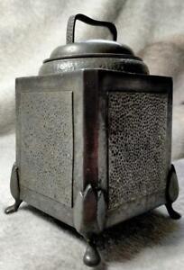 Vintage Metal Period Pewter Tea Caddy 5119? for restoration A/F