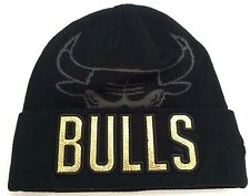 Chicago Bulls New Era NBA GOLD METALLIC Beanie Knit Cuff Toque Skully Cap Hat
