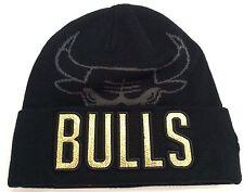 Chicago Bulls New Era NBA GOLD METALLIC Beanie Knit Cuff Toque Skully Cap Hat