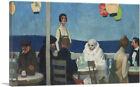 ARTCANVAS Soir Bleu 1914 Canvas Art Print by Edward Hopper