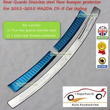 Mazda CX-5 Stainless Steel Rear Inner Bumper Guard & External bumper protector