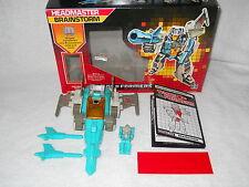 Vintage G1 Transformers Headmasters Brainstorm Complete in Original Box