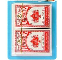 2 x Decks Traditional Plastic Coated Playing Cards Poker Size Sealed Game 2 Pack
