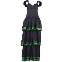 Christian Dior Vintage Sleeveless One Piece Long Dress Black #9 Y03979
