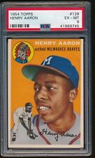 1954 TOPPS HANK AARON  PSA  6  ROOKIE MILWAUKEE BRAVES  #128  VERY WELL CENTERED