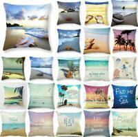 Beach Starfish Cotton Linen Pillow Case Cushion Cover Fashion Home Decor 18x18