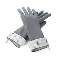 Full Circle Splash Patrol Medium / Large Natural Latex Dishwashing Gloves - Grey