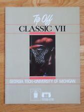 1985 TIP-OFF Classic VII Georgia Tech vs University of Michigan Program