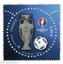 timbre seul issu du bloc feuillet UEFA 2016 tirage limité hors abonnement