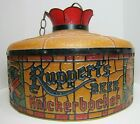 RUPPERT'S KNICKERBOCKER BEER FAUX STAINED GLASS SHADE LAMP LIGHT BAR PUB AD SIGN