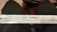 Pat Carnes New & Used Cars,Fort Worth,Texas, Advertisement Metal Ruler