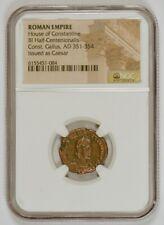 Roman Empire AD 351-354 BI Half-Centenionalis Gallus as Caesar, Constantine, NGC