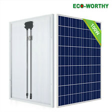 ECO 100 Watt 100W 12V 12 Volt Solar Panel Battery RV Boat Camping Off Grid US