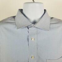 RECENT Jos A Bank Travel Tech Mens Blue White Check L/S Dress Button Shirt 18-35