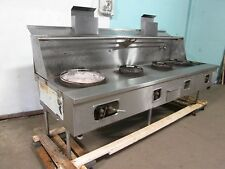 """""""A.R.EQUIP."""" HD COMMERCIAL (109""""W) NATURAL GAS 3 JET BURNERS + REGULAR WOK STOVE"""