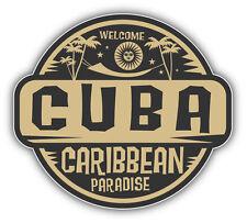 "Cuba Caribbean Paradise Car Bumper Sticker Decal 5"" x 5"""