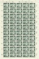 Stamp Germany Mi 843 Sc B230 Sheet 1943 WW2 War Fascism Flag Troops War MNH