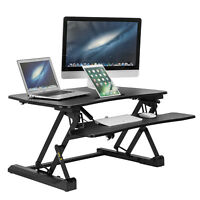 Adjustable Height Stand Computer Desk Ergonomic Workstation Lift Rising Laptop