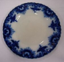 W H GRINDLEY ENGLAND 'CLIFTON' FLOW BLUE DINNER PLATE