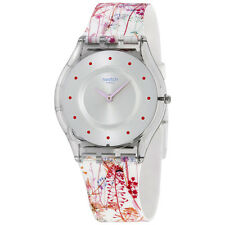 Swatch Jardin Fleuri Silicone Ladies Watch SFE102