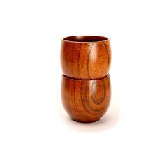 New Wooden Cup Handmade Natural Wood Wine Coffee Tea Juice Drinking Mug Durable