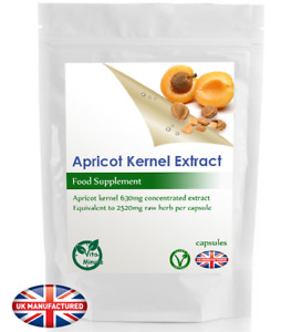 Apricot Kernels Natural Vitamin B17 Amygdalin (30/60/90/120/180 Capsules) UK (V)
