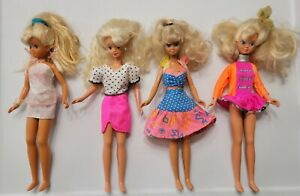 4 Lot Vintage Mattel 1987 Teen Skipper Doll Barbie Teen Sister Outfit Accessory