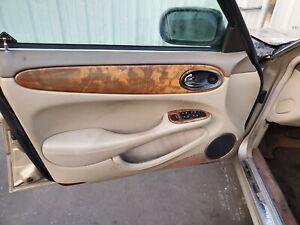 1998 00 01 02 2003 JAGUAR XJ8 XJR VANDEN PLAS LEFT FRONT INTERIOR DOOR PANEL AGD
