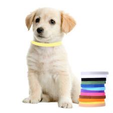 12tlg Welpenhalsband ID Hundehalsband Klettband für Hunde Katzen 20CM