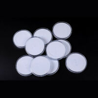 10x 70mm Round Coin Capsules Holder Display Storage Case Adjustable Inner Pads