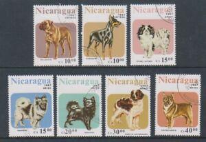 Nicaragua - 1987, Dogs set - CTO - SG 2878/84 (a)