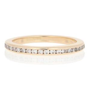 .25ctw Round Brilliant Cut Diamond Wedding Band 14k Yellow Gold Women's Ring