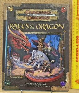 RACES OF THE DRAGON ADVANCED DUNGEONS & DRAGONS 2006 HARDCOVER SOURCEBOOK EXC!!!