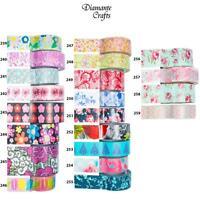 Washi Tape Decorative Masking Adhesive Paper Craft Trim - Flowers 2